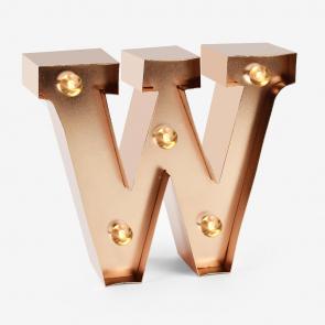 lettere luminose W