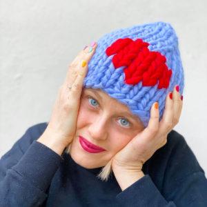 cappelli colorati fatti a mano cuore