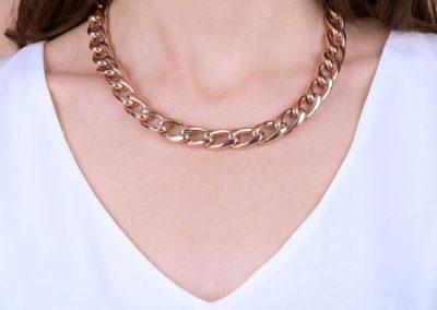Bronzallure collana a catena con materiali preziosi