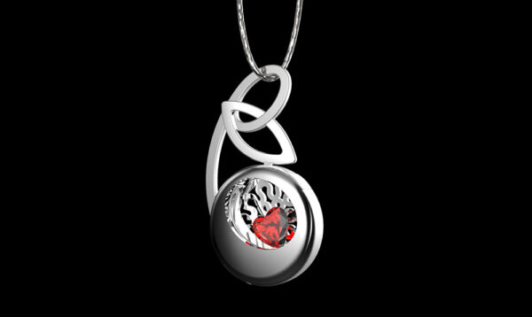 gioielli maternità ciondolo pietra rossa