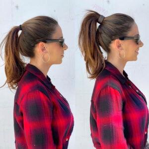 elastico per coda perfetta prima e dopo